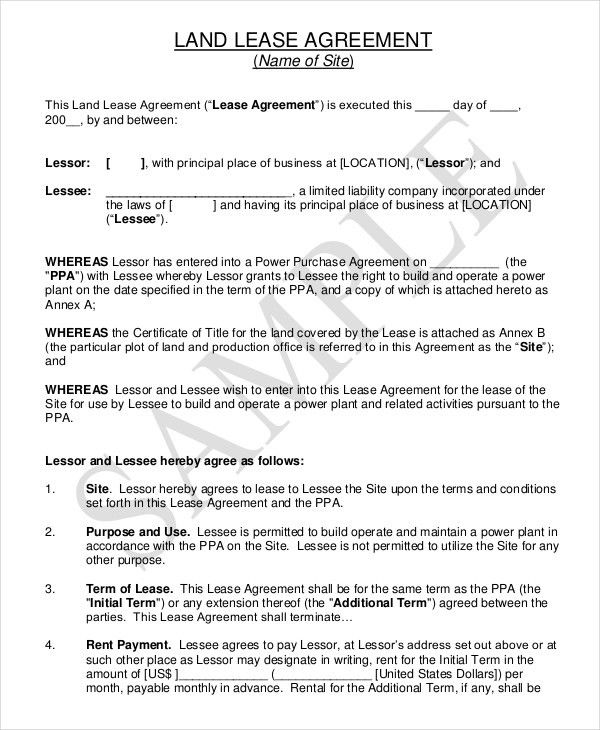 Property Rental Agreement – 9+ Free Word, PDF Documents Download ...
