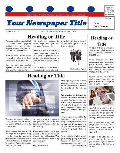 9 best Church Newspaper Templates images on Pinterest | Free cloud ...