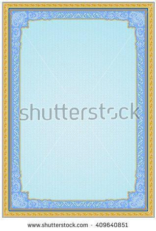 Vector Secure Blank Guilloche Certificate Stock Vector 25600486 ...