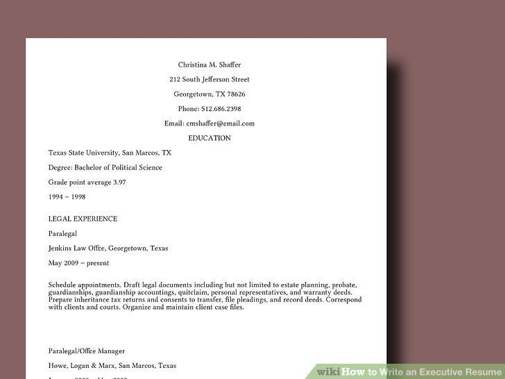 How to Write an Executive Resume: 10 Steps (with Pictures)