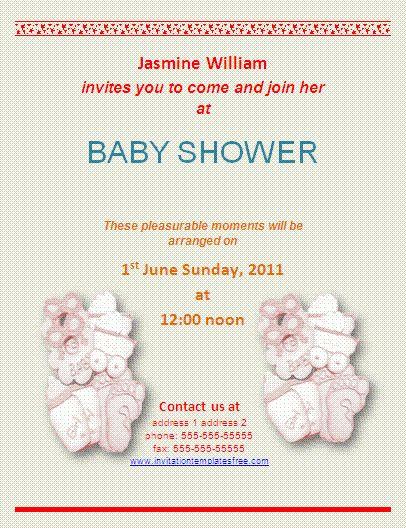 Baby Shower Invite Template Word | Invitations Ideas