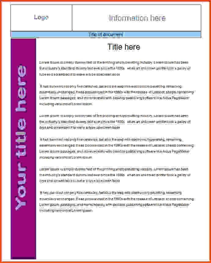 7 fact sheet template | Sponsorship letter