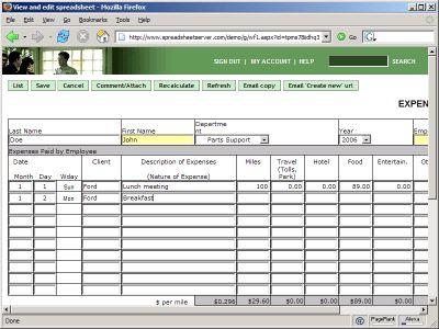 SpreadsheetServer - Screenshots - SpreadsheetConverter