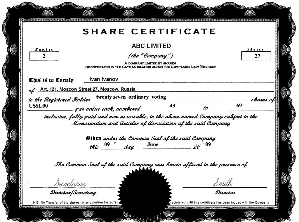 13 Share/Stock Certificate Templates - Excel PDF Formats