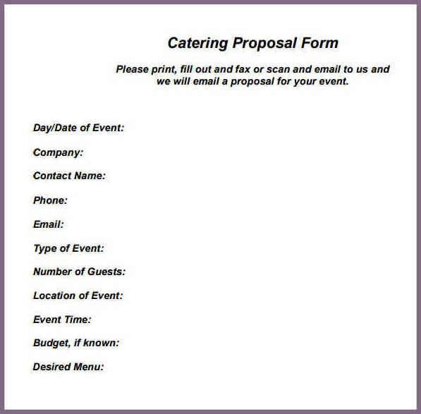 Catering Proposal Templates. Restaurant Catering Mymission ...