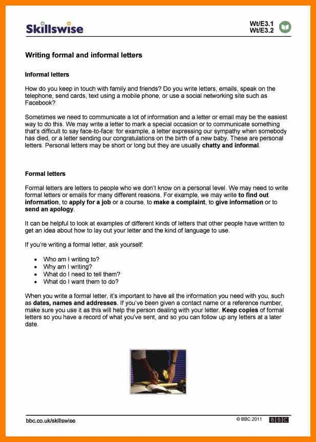 6+ formal and informal letter | science-resume