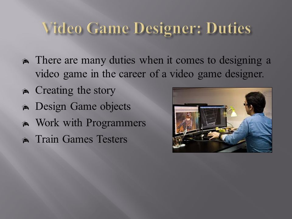 Video Game Designer Job Description. Awesome Collection Of Sample ...