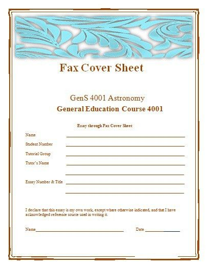 Examples Of Fax Cover Sheet To Provide Information | Free Resume ...