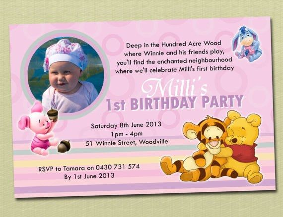 Winnie The Pooh 1St Birthday Invitations | almsignatureevents.com