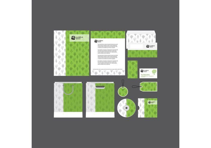 Green Company Profile Template Vector - Download Free Vector Art ...