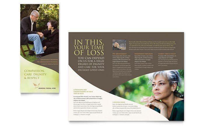 Memorial & Funeral Program Brochure Template Design
