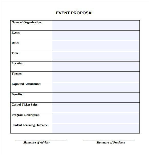 Event Proposal. 3+ Proposal For An Event Sample | Target Cashier ...