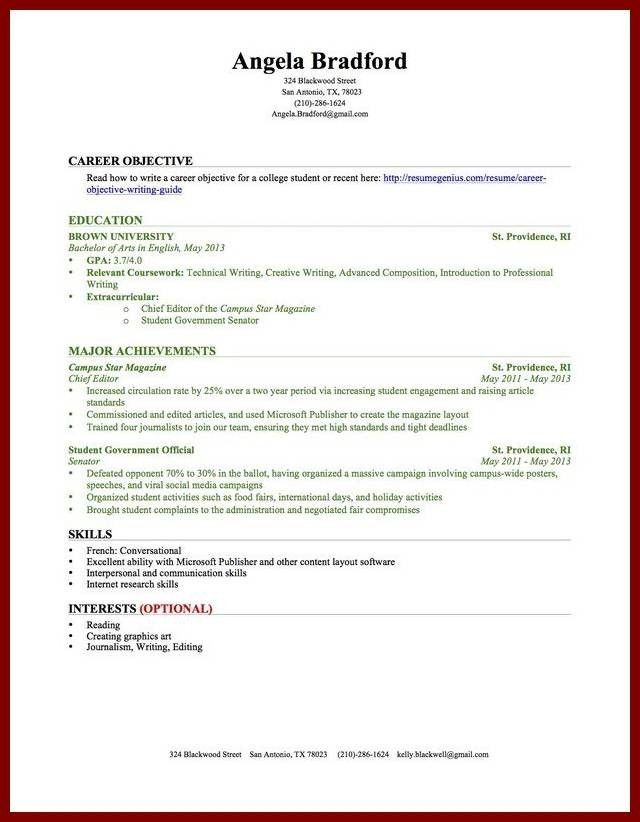 19 Resume Samples For College Students With No Experience Resume ...