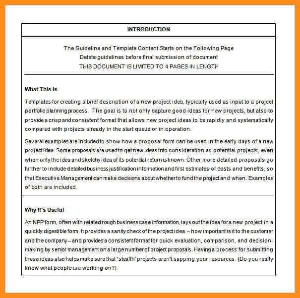Project Proposal Template Free [Nfgaccountability.com ]