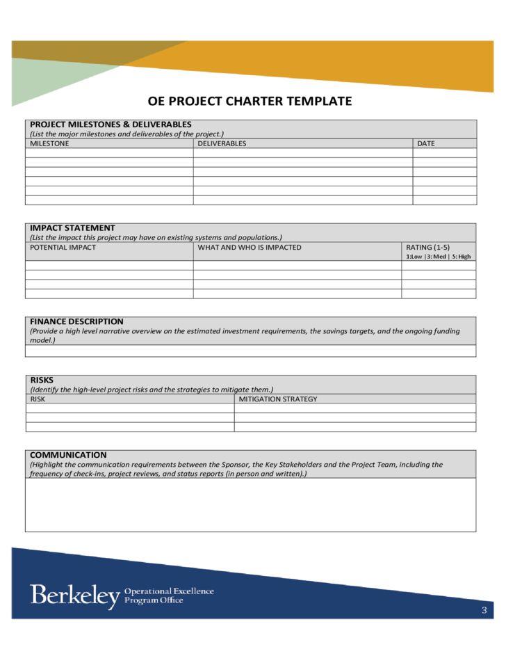 OE Project Charter Template - University of California, Berkeley ...