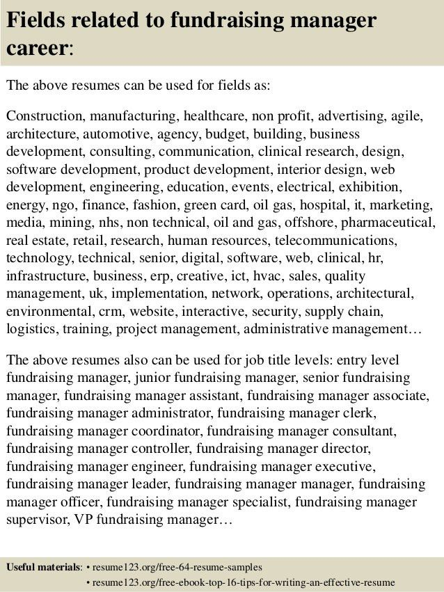 20+ [ Sample Effective Resume ] | Top 8 Fundraising Manager Resume ...
