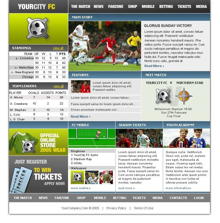 Website Template #8471 Sport Entertainment Championship Custom ...