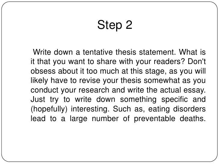 Example of thesis statement for informative essay | Mla research ...