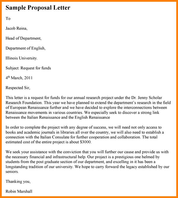 5+ how to write a formal proposal letter | Proposal Template 2017