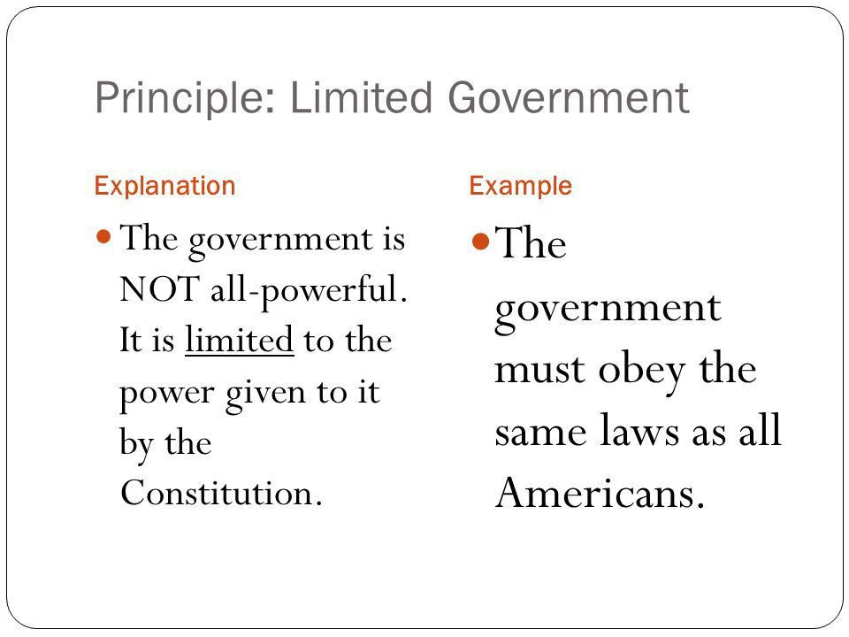 7 Principles of the Constitution - ppt video online download