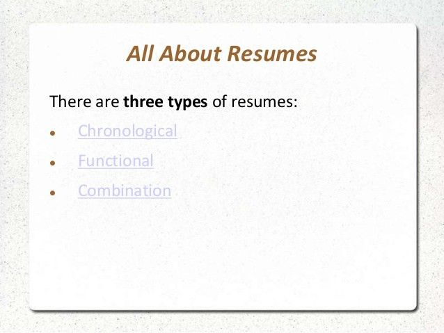 three types of resume formats what are the 3 main resume types