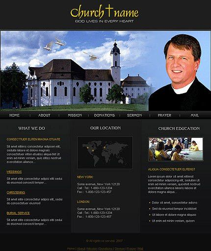 Catholic Church Website Template #303, professional web page ...