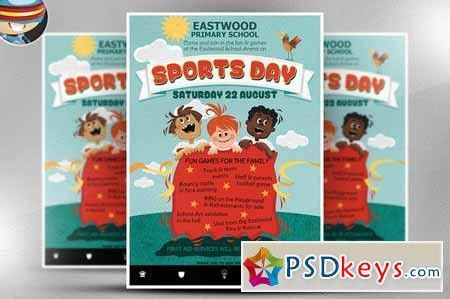 Kid's Sports Day Flyer Template 216710 » Free Download Photoshop ...