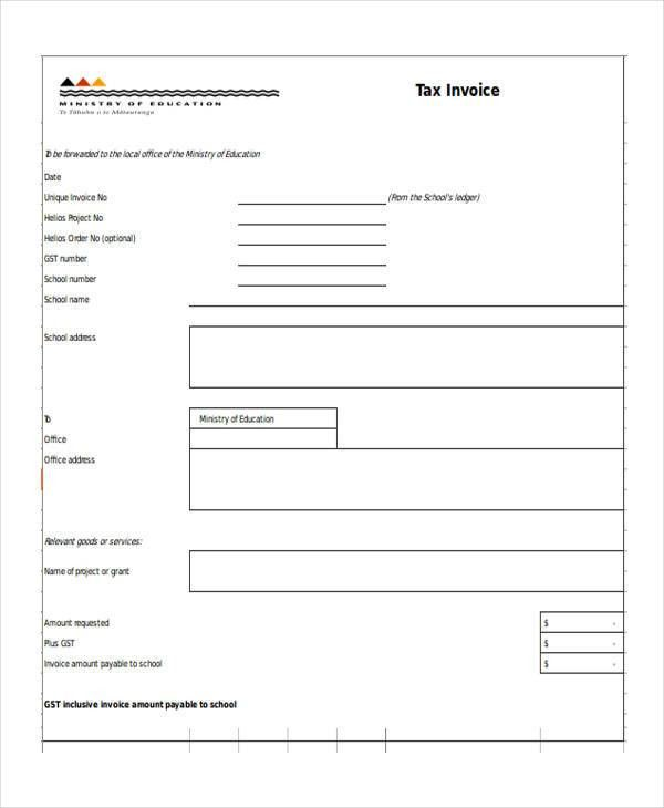 Education Invoice. Invoice With Gst | Free Printable Invoice ...