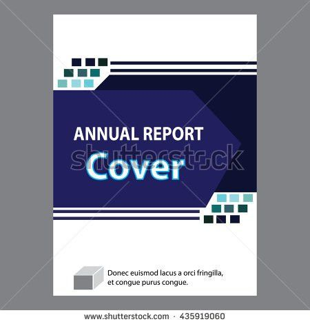 Blue Annual Report Title Page Sample Stock Vector 435919048 ...