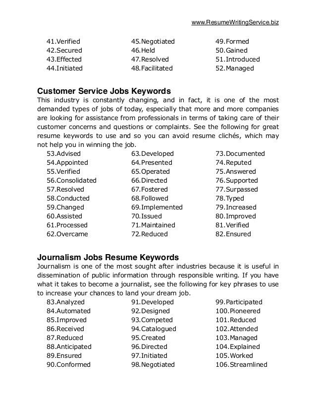 Attractive Inspiration Keywords For Resume 2 Resume And Cover ...