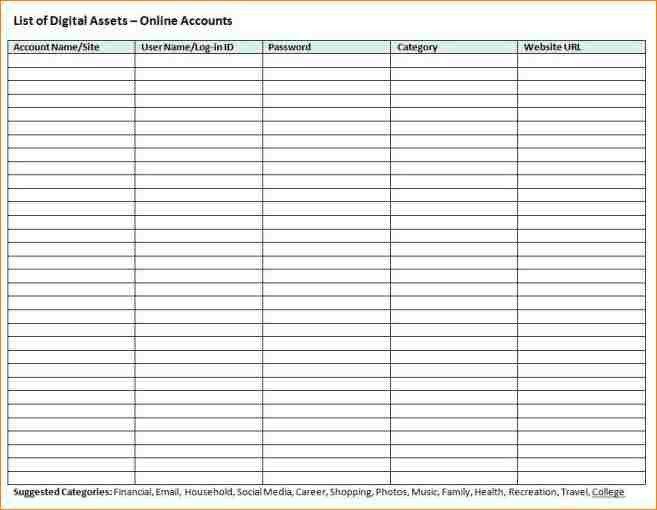 10+ password log template | academic resume template