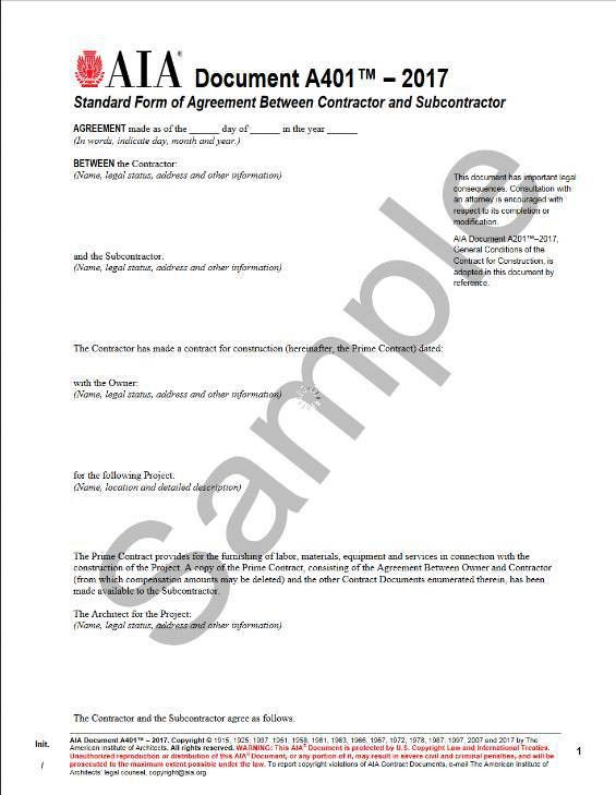 Construction Agreement Form. A133–2009 Standard Form Of Agreement ...