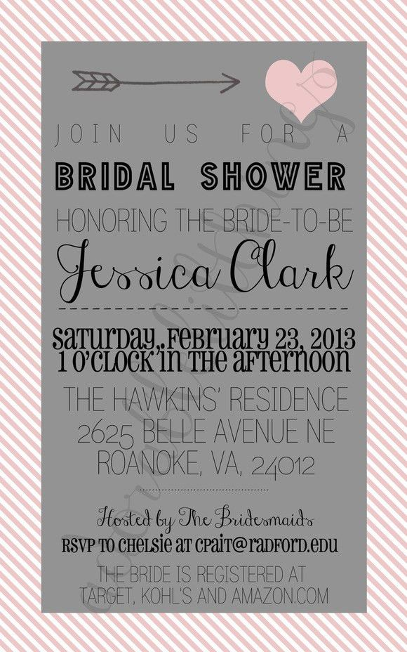 Free Printable Bridal Shower Invitation Templates - Blueklip.Com