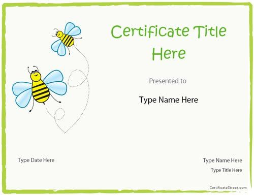 Blank Certificate - Blank Certificate Template for Kids ...