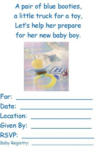 free printable baby shower invitations templates for boys ...