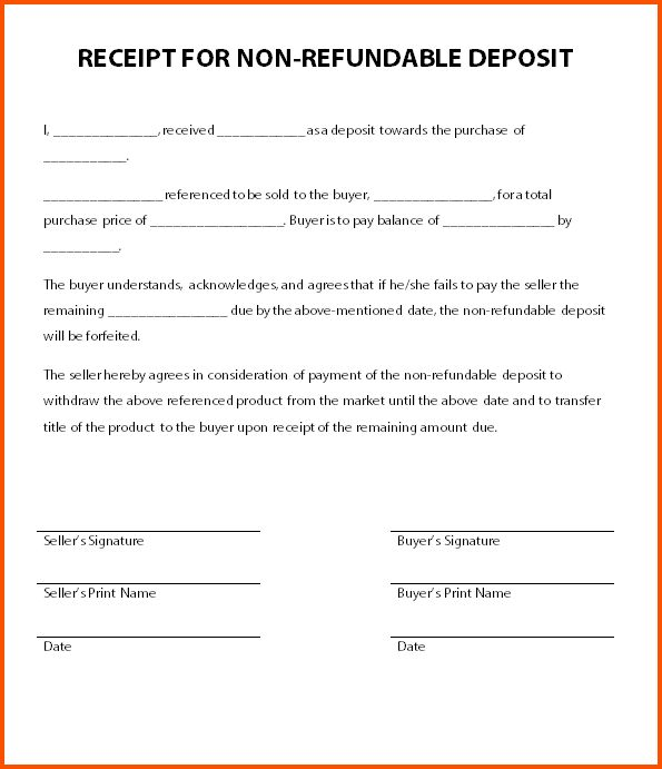11+ security deposit receipt form | Survey Template Words