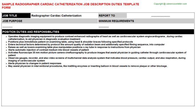 Radiographer Cardiac Catheterization Job Title Docs