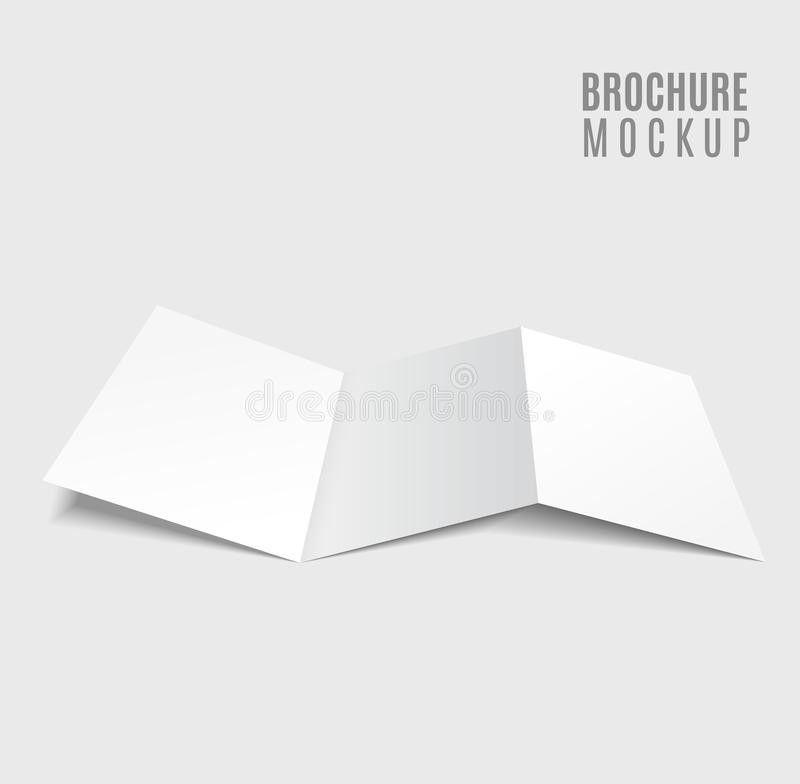 Blank Tri-fold Brochure Stock Vector - Image: 53263846