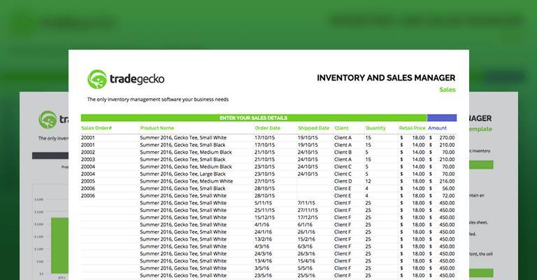 Free Inventory Spreadsheet | TradeGecko