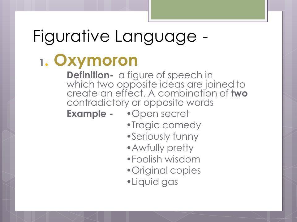 Literary Skills Romeo and Juliet. Figurative Language - 1 ...