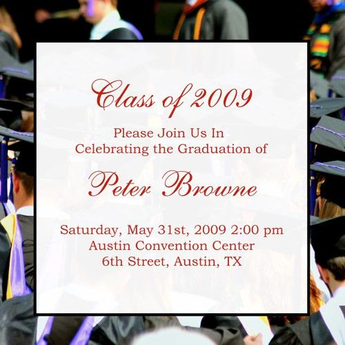 Graduate Invites: Charming Graduation Party Invitation Wording ...