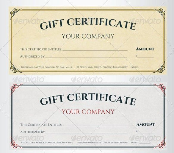Sample Gift Certificate Template - 48+ Documents Download in PDF ...
