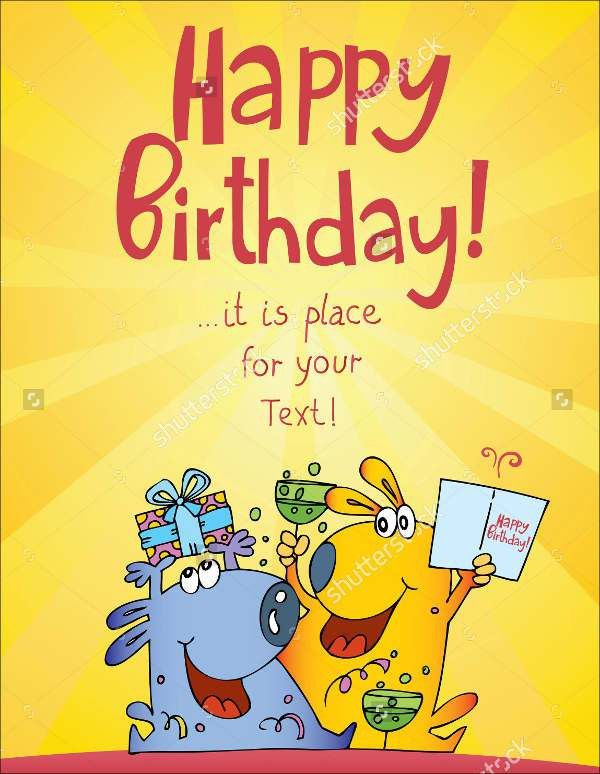 9+ Funny Birthday Card Templates,Free PSD, Vector AI, EPS Format ...