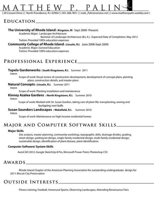 Architect Resume. Architect Resume Design Architect Resume ...