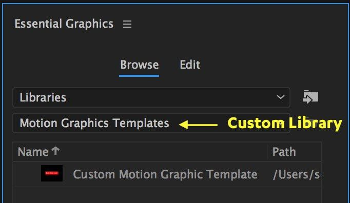 Motion Graphics Template Workflow in After Effects and Premiere ...