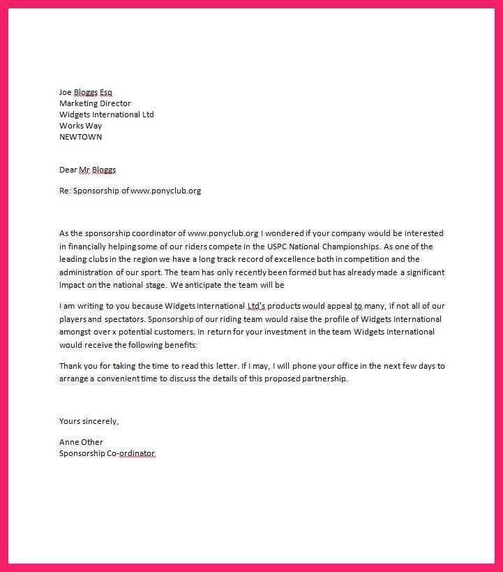 sponsorship letter template | bio letter format