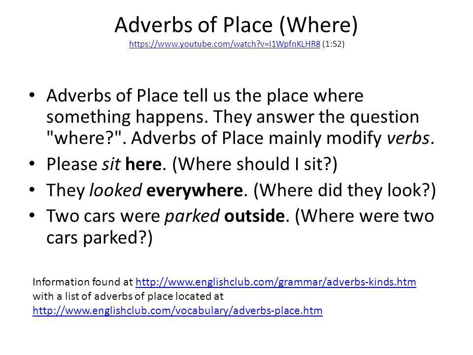 Adverbs Textbook pages 284 – 293 Grammar book pages - ppt video ...