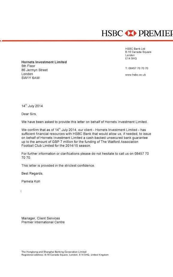 Watford investigate forged bank letter allegations - Sports ...