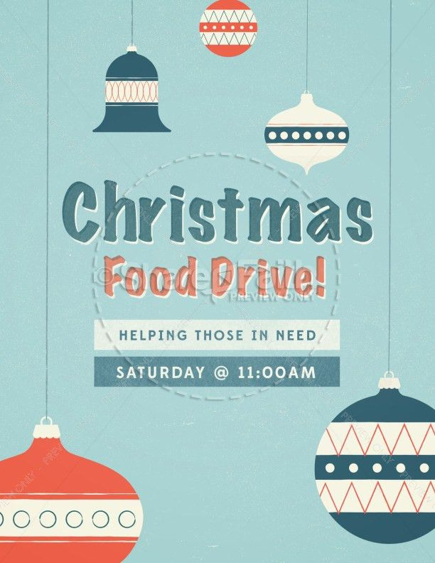 Christmas Food Drive Ministry Flyer Template | Flyer Templates