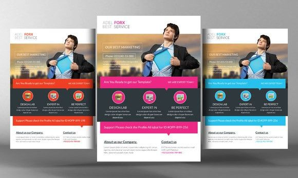 Marketing Flyer Template by Business Templates on Creative Market ...